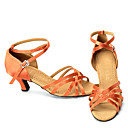 Top Fashionable Satin Upper Latin Ballroom Dance Shoes For Lady(SBS025)