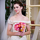 Anne Hathaway Bride Wars Trumpet / Mermaid Off-the-shoulder Cathedral Train Taffeta Celebrity Wedding Dress (WSM0361)