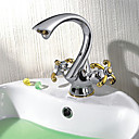Two Handles Chrome Centerset Sink Faucet (0601-CB-52201)