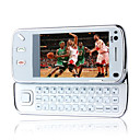Jinpeng N97 style  double carte Bluetooth plat  cran tactile FM slide blanc de tlphone portable (carte 2GB TF) (sz05150415)