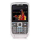 E71 Style Quad Band Dual Card Bluetooth Cell Phone Black (2GB TF Card)