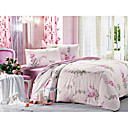 4-pc Flower Cotton Full Size Duvet Cover Set - Free Shipping (0580-9S200017S)