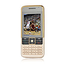 K600 + card dual standby dual band telefono cellulare quad oro (2GB TF card) (sz05450195)