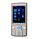 n95 + Quad-Band Dual-Karte Ultra Thin Metallabdeckung java Immobilie Touchscreen bar Handy Grau (2GB Karte tf) (sz05440148)