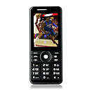 k800 Quad Band Dual Card Dual Standby TV Dual Camera Flashlight Cell Phone Black (2GB TF Card)(SZ05440114)