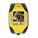 F3 Quad Band Bluetooth Touch Screen Watch Cell Phone Yellow (2GB TF Card)