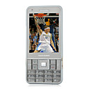 N8 Dual Card Bluetooth Touch Screen FM Music Cell Phone Black and Silver (2GB TF Card)