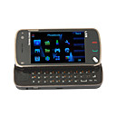 N97E style Quad Band Dual Camera TV Function with Flashing Flat Touch Screen Cell Phone Black (2GB TF Card)