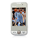 S8000+ Dual Card Dual Camera Quad Band with TV Flat Touch Screen Cell Phone White (2GB TF Card)