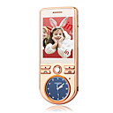 N8 Dual Card Dual Band JAVA Ultra Thin Flat Touch Screen Cell Phone Gold (2GB TF Card)