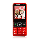 K800 Quad Band Dual Card Bluetooth Dual Camera FM TV Cell Phone Red (2GB TF Card)