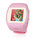 MQ007 Super Cool Qaud Band Watch Touch Screen Cell Phone Pink (2GB TF Card)