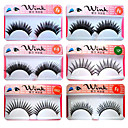 Fashion Lashes - 50 Pairs Long, Dramatic Blunt Cut False Eyelashes FX