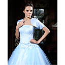 Short Sleeve Satin Beading Special Jacket/ Wedding Wrap
