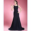 Trumpet/ Mermaid Scoop Sweep/ Brush Train Chiffon Mother of the Bride Dress