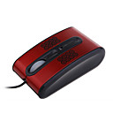 PC Optical Mouse - Chinese Red with Print - 3btn Mouse - Seven Color Flashing Light - Wired - USB (SMQ3801)
