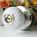 High Quality Ceramic Door Knob with Lock (Porcelain Door Knob) (0768-W11-SS)