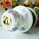 High Quality Ceramic Door Knob with Lock (Porcelain Door Knob) (0768-W01-SST)