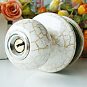 High Quality Ceramic Door Knob with Lock (Porcelain Door Knob) (0768-W13-SST)