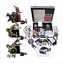 Free Shipping Professional Tattoo Machine Kit Completed Set With 3 Tattoo Gun Machines(0359-03.23-T047)