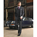 Single-Breasted 2 Button Non-Vented Notch Lapel Wool Groom Wear/ Tuxedo/ Men's Suit Jacket and Pants