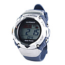 Solar Powered Waterproof EL Digital Stopwatch Sport Wristwatch