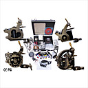 Free Shipping Professional Tattoo Machine Kit Completed Set With 4 Tattoo Gun Machines(0359-03.17-C083)