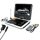 9,2-Zoll-Portable DVD-Player mit TV-Funktion, USB-Anschluss, 3-in-1 Card Reader und Spiele (tra-296)