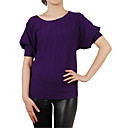 Puff Short Sleeves Round Neckline Women's Sweaters(1001BC029-0736)