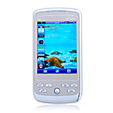 X6 Dual Card Dual Standby Flat Touch Screen Bar Cell Phone White (2GB TF Card)(SZ05440494)