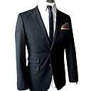 Single-Breasted 2 Button Center-vented Peak Lapel Wool Groom Wear/ Tuxedo/ Men's Suit Jacket and Pants