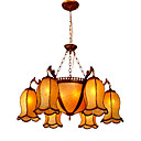 Elegant Column 6-light Hanging Chandelier(0860-D-8850-6+3)
