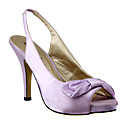 Elegant Satin Upper High Heel Peep-toes With BowknotWedding Bridal Evening Party Shoes (0796-9009