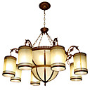 Elegant Column 6-light Hanging Chandelier(0860-J1136-6+3)