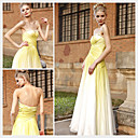 A-line Sweetheart Floor-length Sleeveless Chiffon Quick Delivery/ Evening Dress (OFGC381)