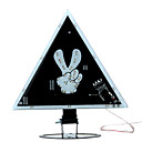 Victory Pose Triangle LED Color Warning Sign Light YS-2026