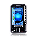 N93 Quad Band Dual Card Dual Camera JAVA Bluetooth TV 3.0 Inch Mental Cover Cell Phone Black (2GB TF Card)(SZ00510323)