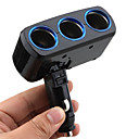 Triple-way Portable Car Cigarette Lighter Charger Socket Splitter  - 12V  lp-817