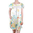 100% Silk Cute Printed Doll Women's Dresses(1802BD012-0736)