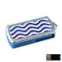 Fashionable Rectangle with Wavy Pattern Jewelry USB Flash Drive - Optional Memory From 2 GB to 16 GB (SMQ4680)