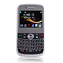 9800 Dual Card Dual Camera Ultra Thin Quad Band JAVA QWERTY Keypad Cell Phone Black (2GB TF Card and Leather Case)