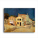 Stretched Canvas Handmade The Yellow House at Arles,c.1889 Painting by Vincent Van Gogh 0192-YCF103203