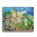 Stretched Canvas Handmade Blossoming Chestnut Branches,c.1890 Painting by Vincent Van Gogh 0192-YCF103178