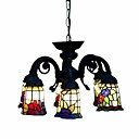 Floral Tiffany 6-light Chandelier (0923-TF-P28)