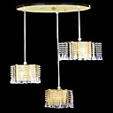 Electrophoresis Gold K9 Crystal 3-light Ceiling Light(0946-OL-302+3)