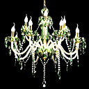 bougie 8-lumires vertes k9 de cristal (0944-hh11004)