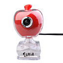 Apple Shaped 300K Pixel USB Webcam (Red)