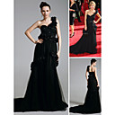 Ginnifer Goodwin A-line One Shoulder Court Train Tulle Emmy/ Evening Dress (FSD0377)