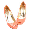 Top Quality Patent Leather Upper High Heels Peep-toes With Special Occasion Shoe/ Fashion Shoe (0985-K025)