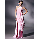 Chiffon Charmeuse Column Floor-length Evening Dress inspired by Kate Beckinsale at Cannes Film Festival